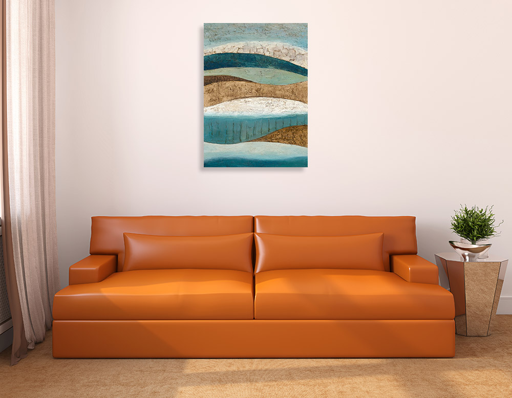 Abstract Contemporary Canvas Art Print