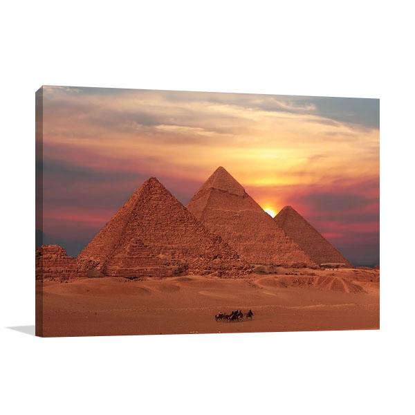 Egypt Giza Pyramids Wall Canvas Print