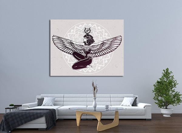 Egyptian Diety Wall Art Print on the wall