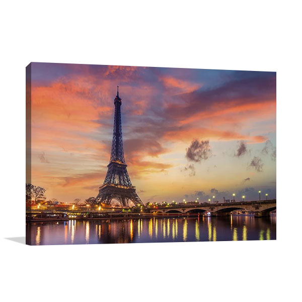 Eiffel Tower Sunrise Canvas Print