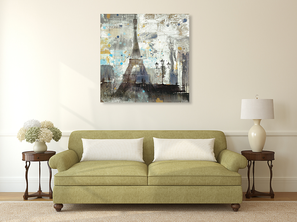 Square Abstract Canvas Art Print