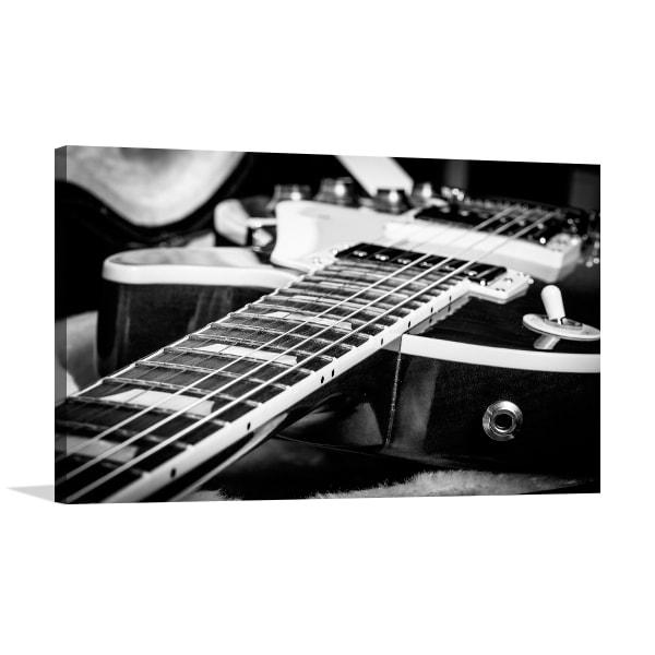 Electric Guitar Black & White Art Prints