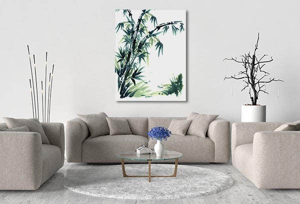 Elegant Bamboo Prints Canvas