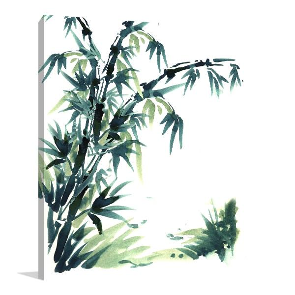 Elegant Bamboo Print Artwork