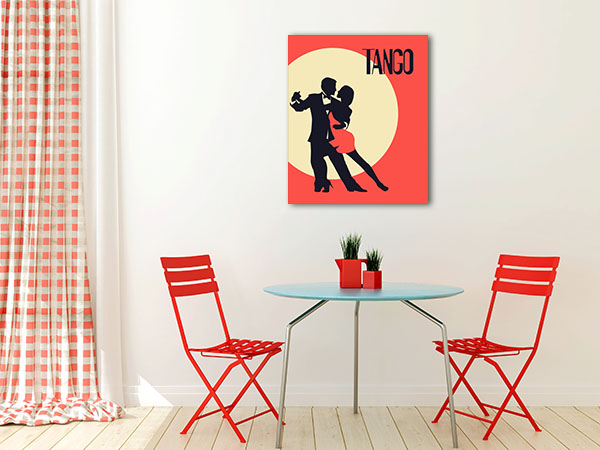 Elegant Couple In Tango Canvas Prints