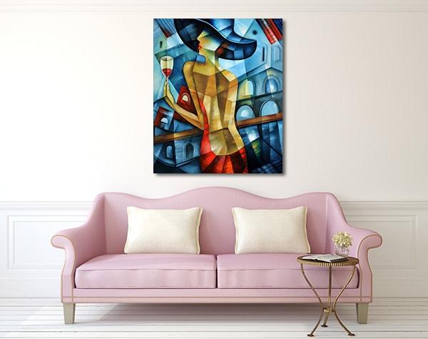 Elegant Woman Prints Canvas