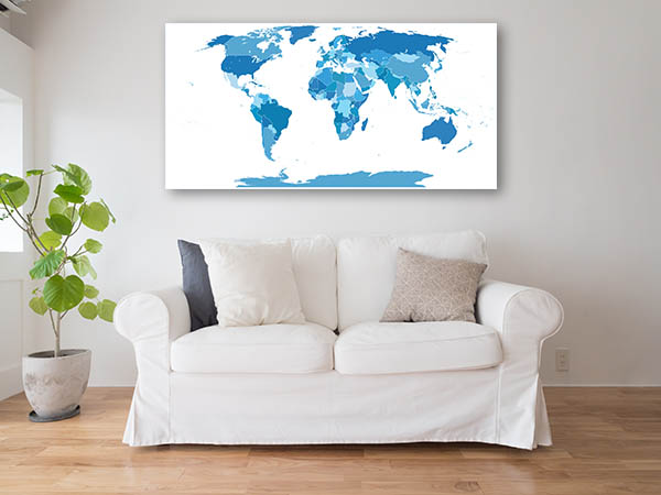 Elements World Map Wall Art
