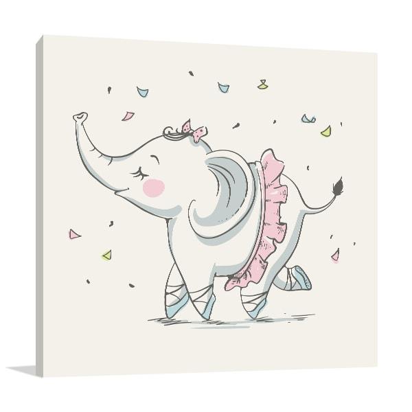 Elephant Ballerina Canvas Prints