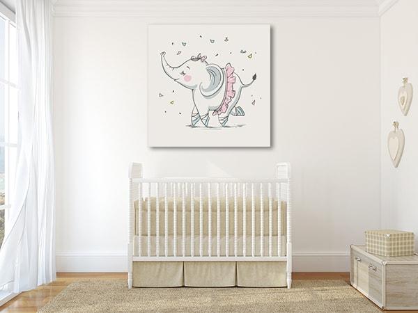 Elephant Ballerina Prints Canvas