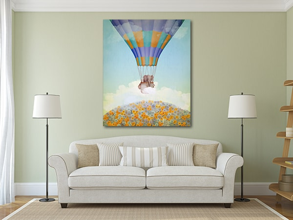 Elephant in the Sky CanvasArt Print