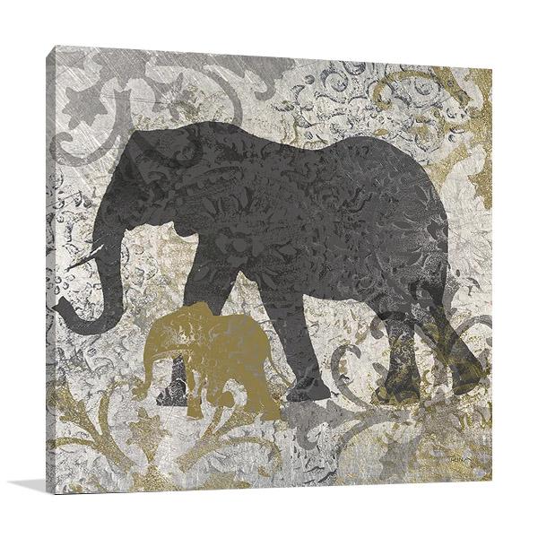 Elephants Exotiques Canvas Print | Katrina Craven