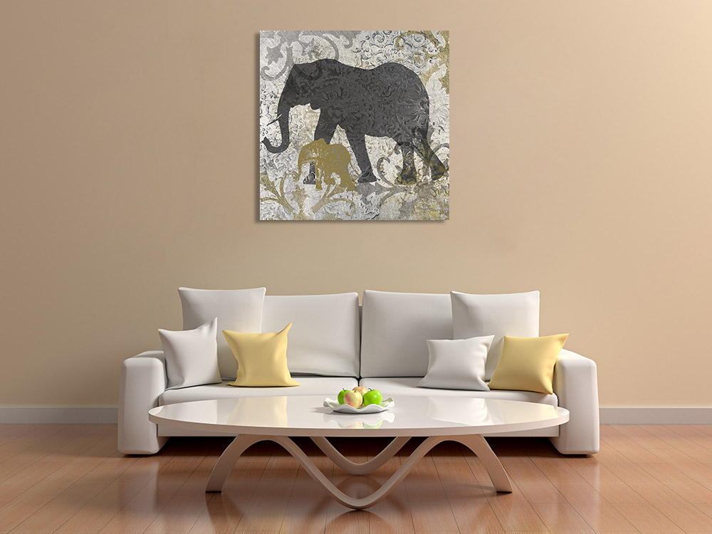 Abstract Africa Animals Art Print