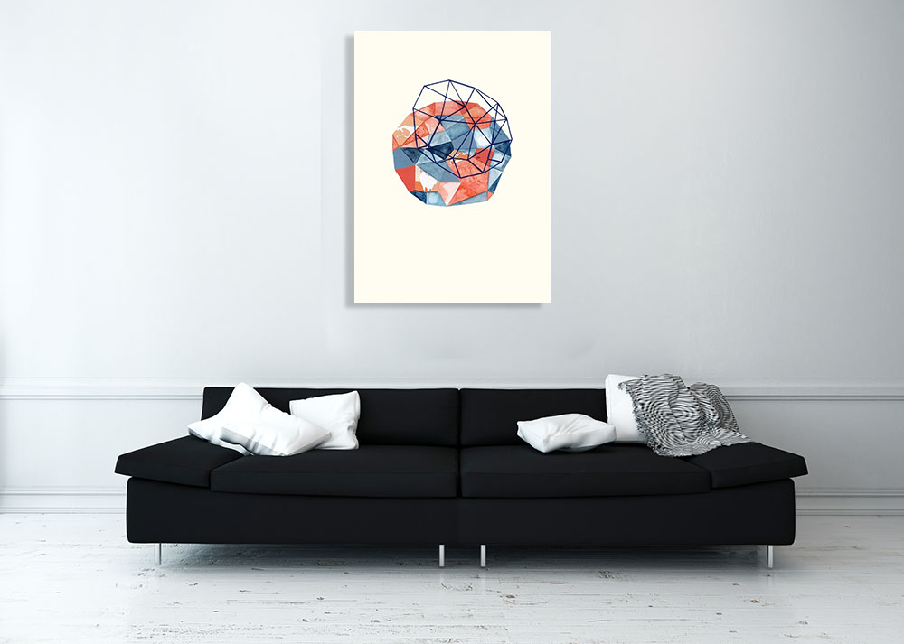 Shapes Contemporary Pattern Art Print