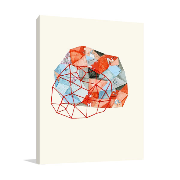 Embroidered Prism Collage VI Print | Marie