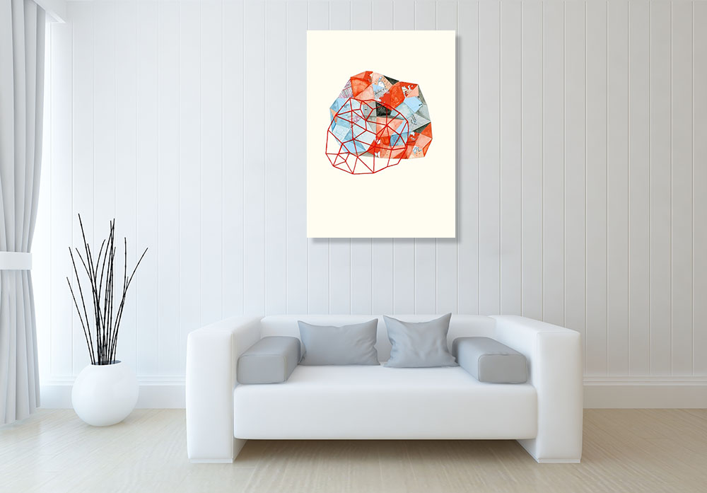 Contemporary Abstract Shapes Print Canvas