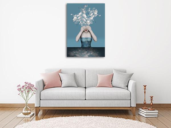 Emotional Girl Prints Canvas