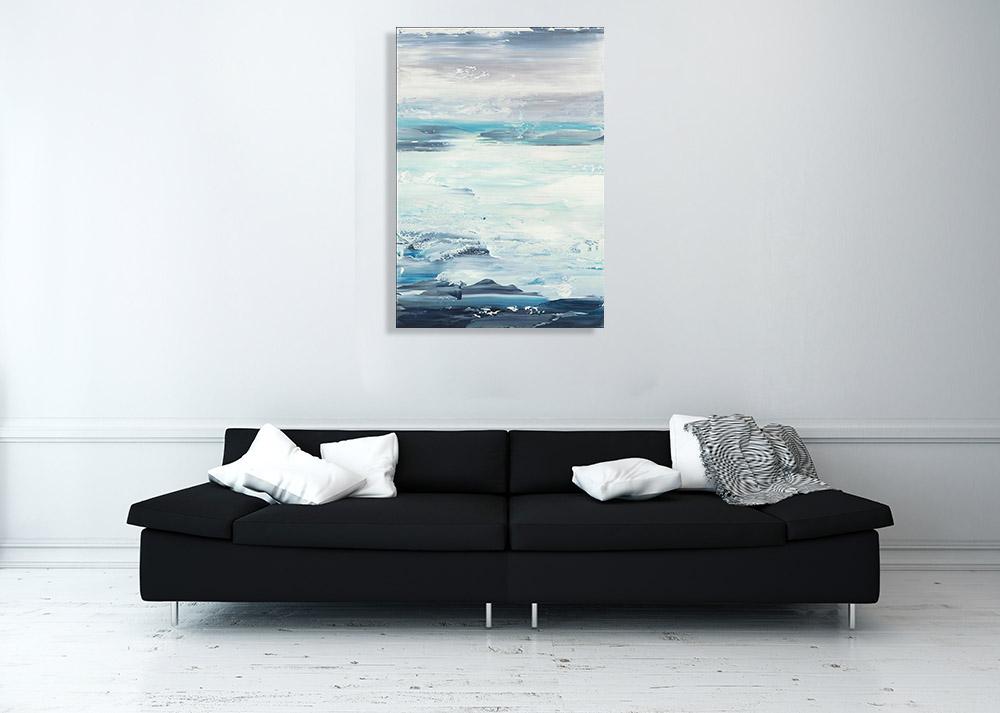 Ocean Contemporary Canvas Art Print