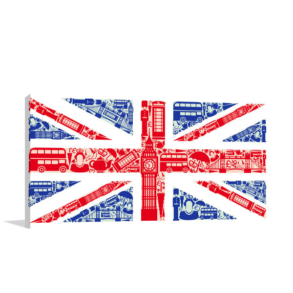 England Flag Canvas Prints