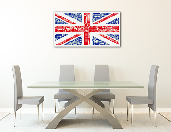 England Flag Prints Canvas