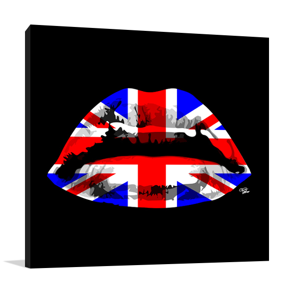 England Kiss Wall Art Print