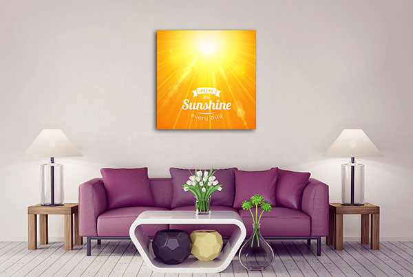 Enjoy The Sunshine Every Day Prints Canvas