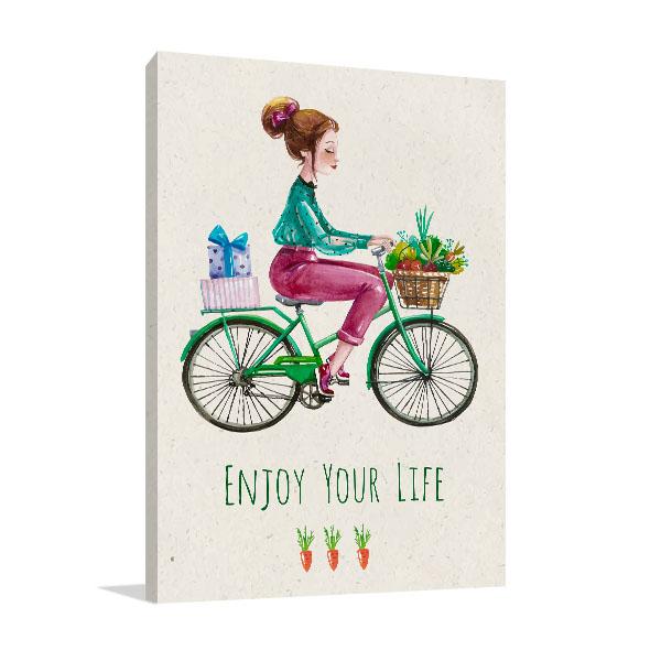 Enjoy Your Life Canvas Art Prints