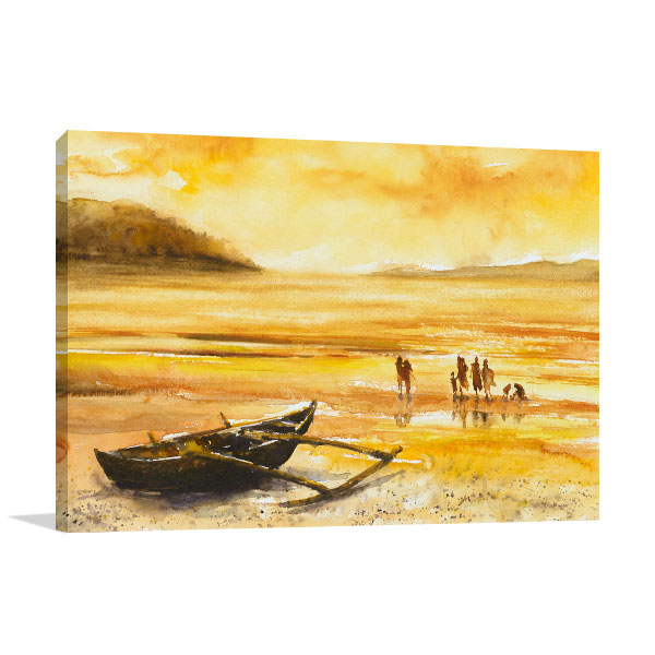 Enjoying Sunset Prints Canvas