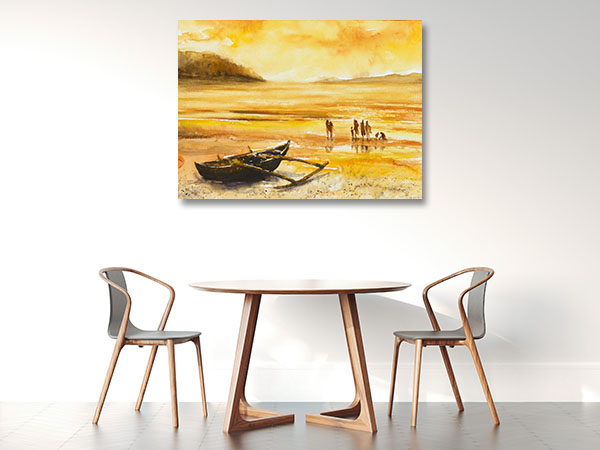 Enjoying Sunset Print Artwork