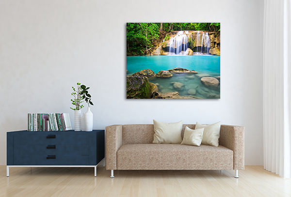 Erawan Waterfall Canvas Prints