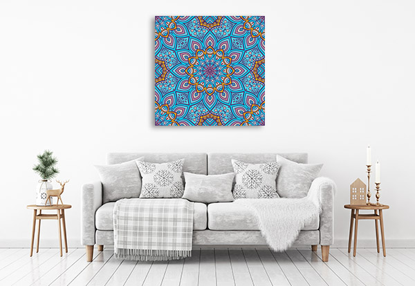 Ethnic Floral Canvas Prints
