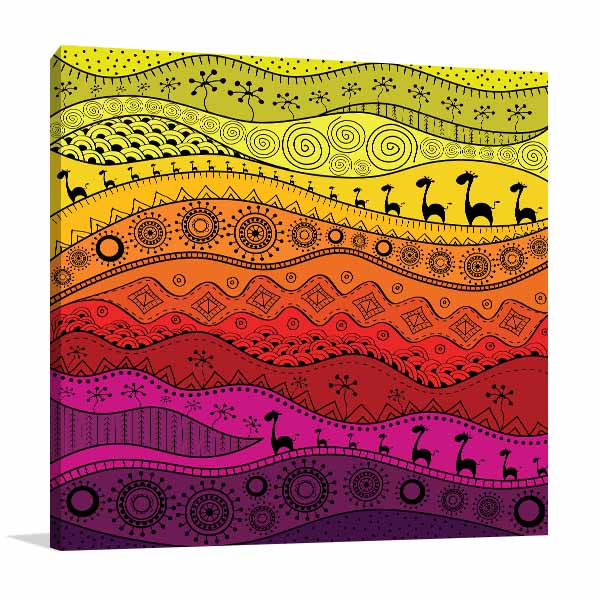 Ethno Pattern Canvas Art