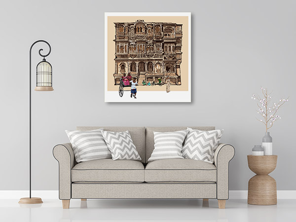 Facade of Old House Print Artwork