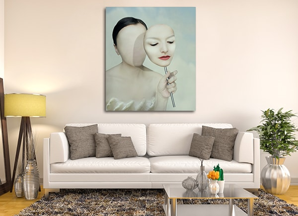 Faceless Woman Art Print on the Wall
