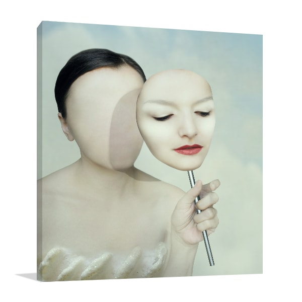 Faceless Woman Art Print