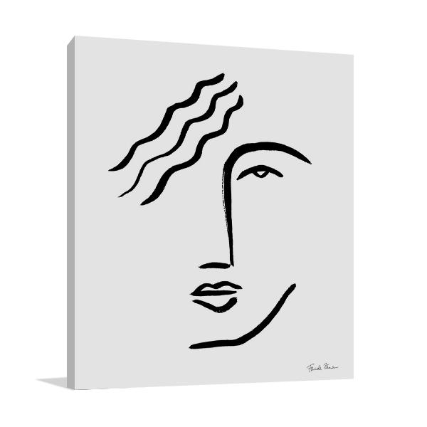 Faces I Line Canvas Art Print