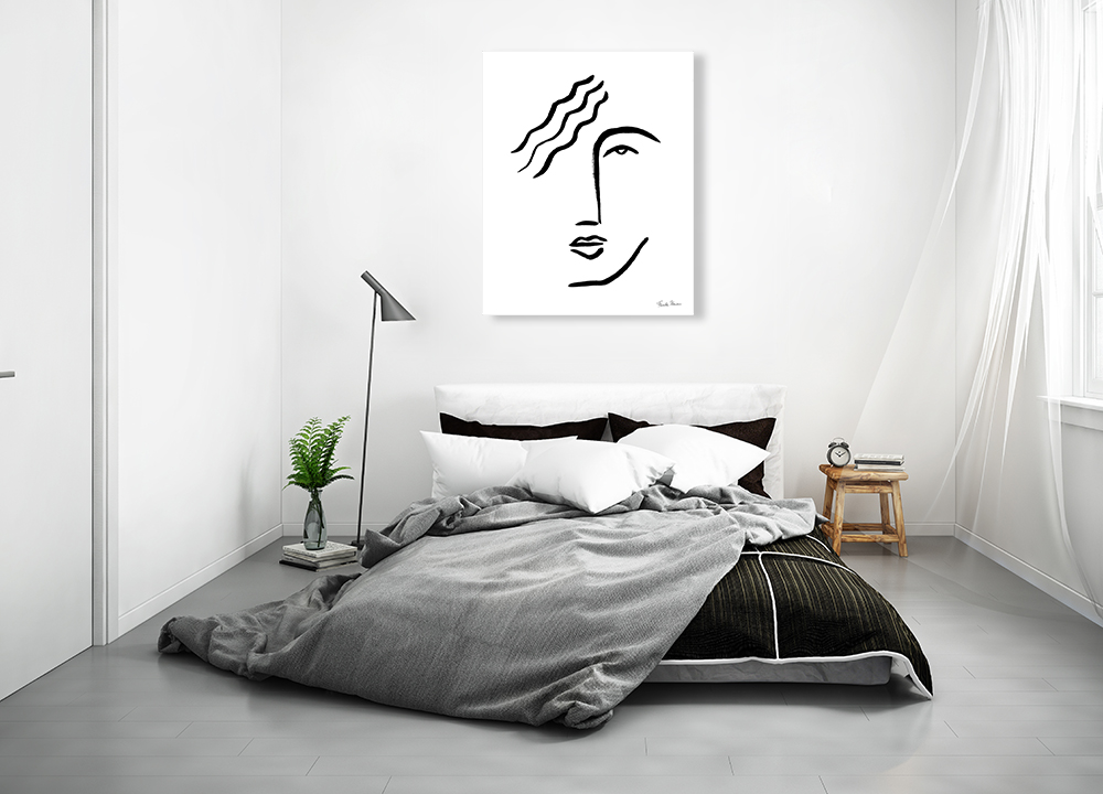 Line Drawing Art Print on Canvas