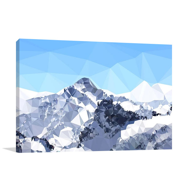 Faceted Snowy Peak Canvas Print