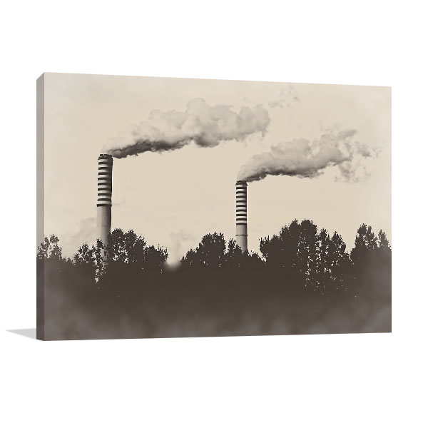 Factory Plant Canvas Art Prints