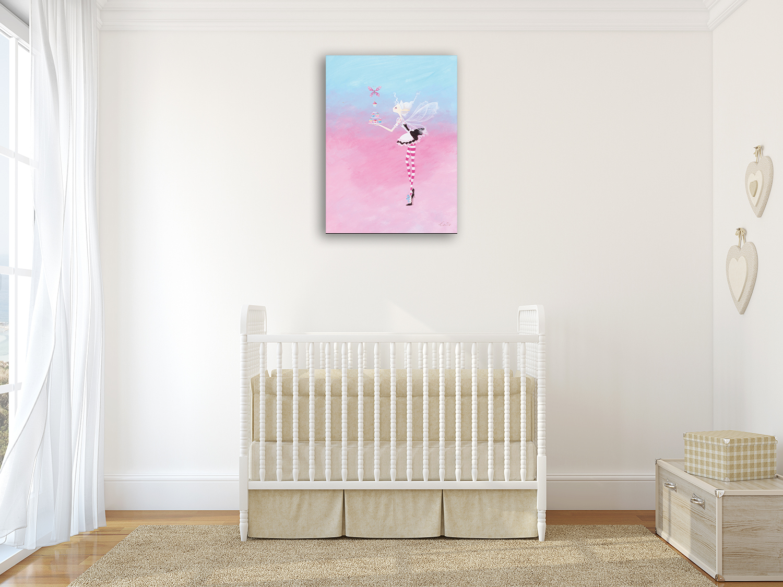 Blue Pink Canvas Art