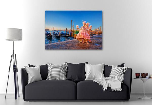 Famous Carnival Venice Canvas Prints