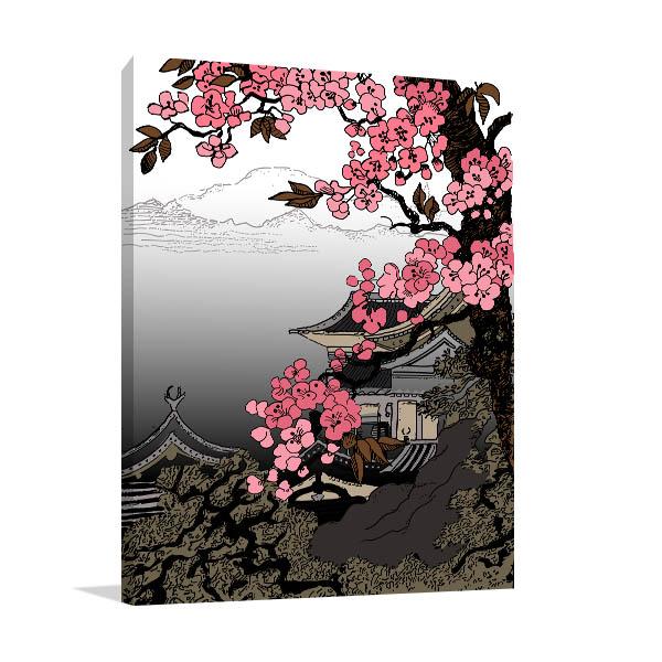 Famous Cherry Blossom Canvas Art
