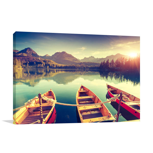 Fantastic Mountain Lake Prints Canvas