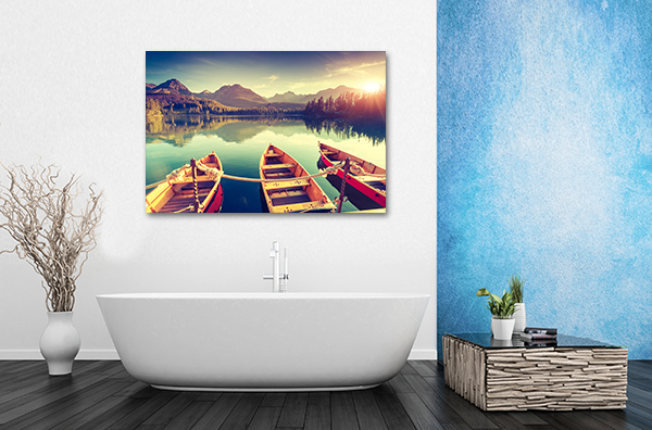 Fantastic Mountain Lake Canvas Prints