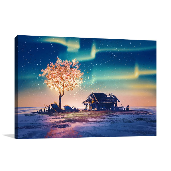 Canvas Print | Fantasy Tree Lights