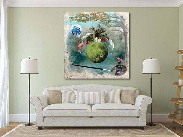 Fantasy World Canvas Art Print on the Wall