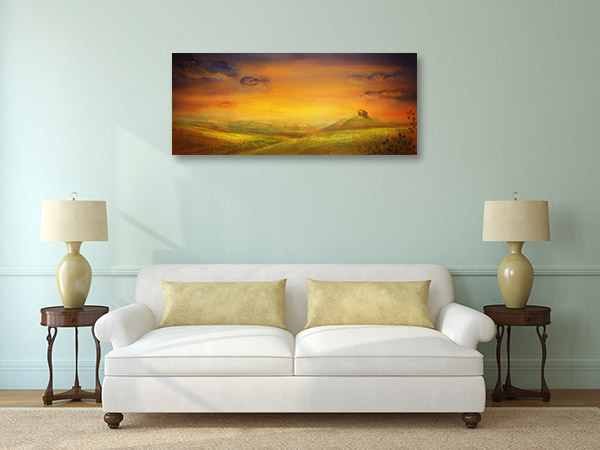 Farm with Crops Wall Art