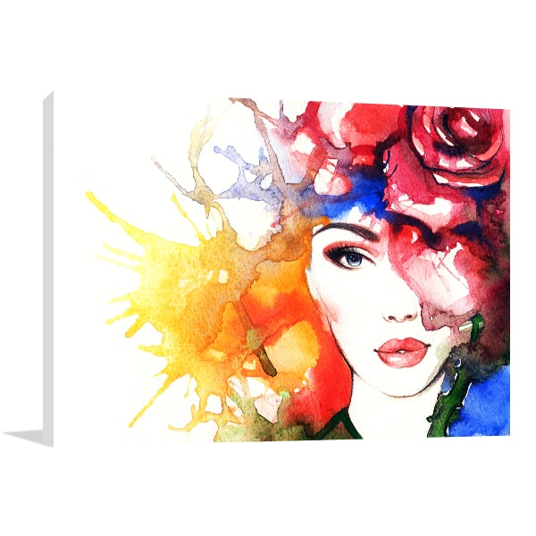 Fashion Portrait Canvas Art Print