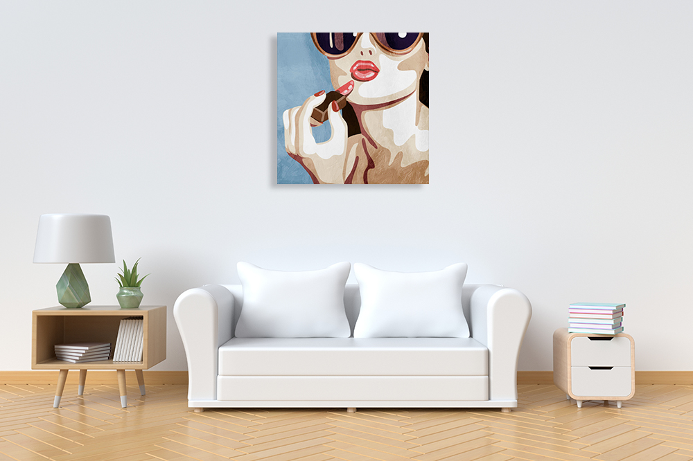 Makeup Square Wall Canvas Art