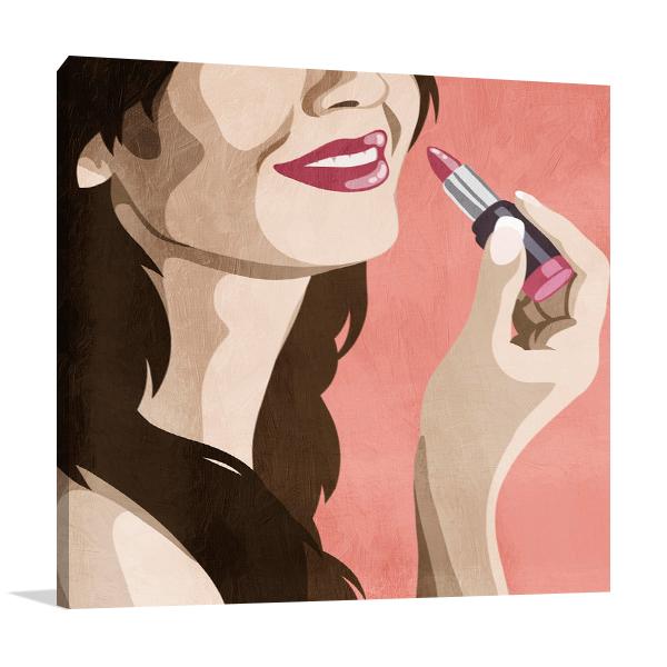 Fashionable Kiss II Wall Art Print
