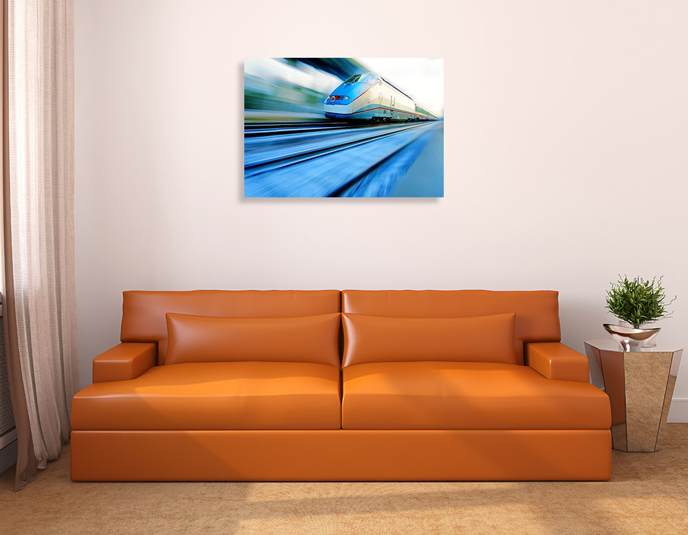 Blue Landscape Print Canvas